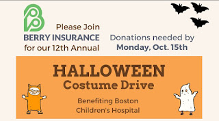 12th Annual Halloween Costume Drive at Berry Insurance