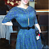 Gail Carriger in Paisley Print 1950s Day Dress in DC & Chicago for the Waistcoats & Weaponry Tour