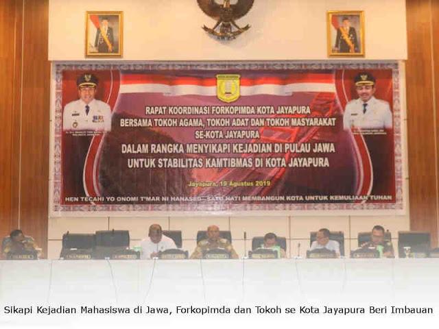 Sikapi Kejadian Mahasiswa di Jawa, Forkopimda dan Tokoh se Kota Jayapura Beri Imbauan