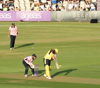 cricketer hitting ball hampshire v middlesex