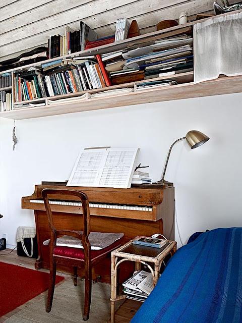 piano décoration scandinave au Danemark