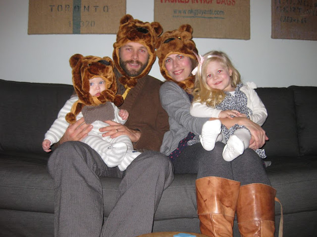 Family Costume 2014. Goldilocks and the three bears.