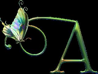 Bellísimo Alfabeto con Mariposas.