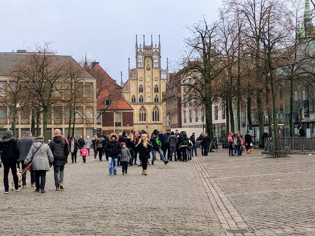 Münster's Hall of Peace viewed from the Domplatz