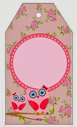 Owl with Roses Free Printable Bookmarks.