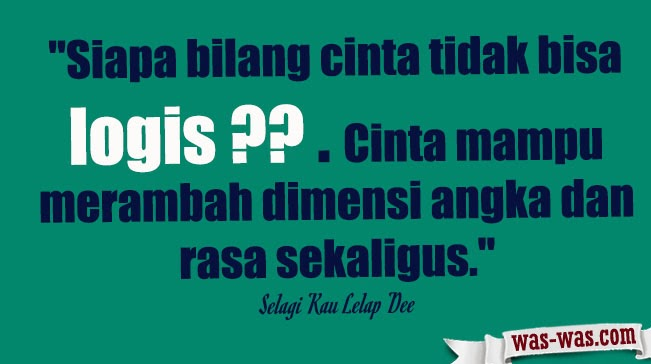 """Kutipan Novel Filosofi Kopi Dee"""