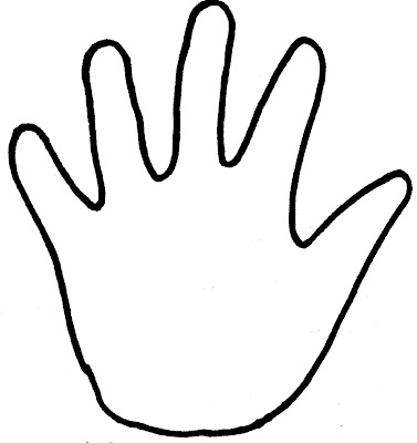 coloring pages of hand prints - photo#9