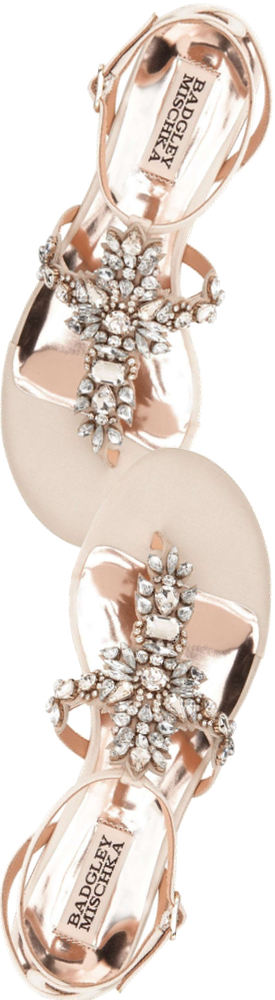 BADGLEY MISCHKA 'Cara' Crystal Embellished Flat