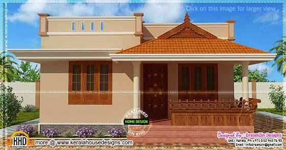 Small House Single Storied In 1150 Square Feet Kerala