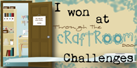 Winner at Through The Craft Room Door Challenges