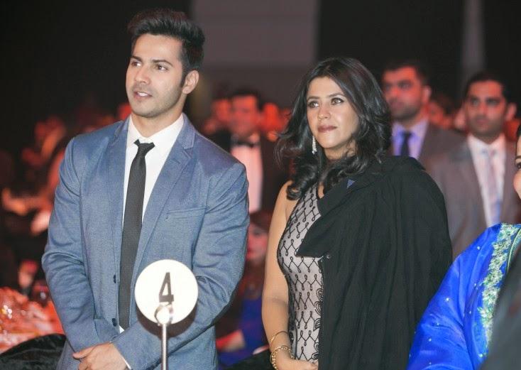 Varun Dhawan and Ekta Kapoor, Masala! Awards 2014 Inside Pics