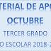 MATERIAL DE APOYO (octubre) 3° PRIMARIA ciclo escolar 2018-2019