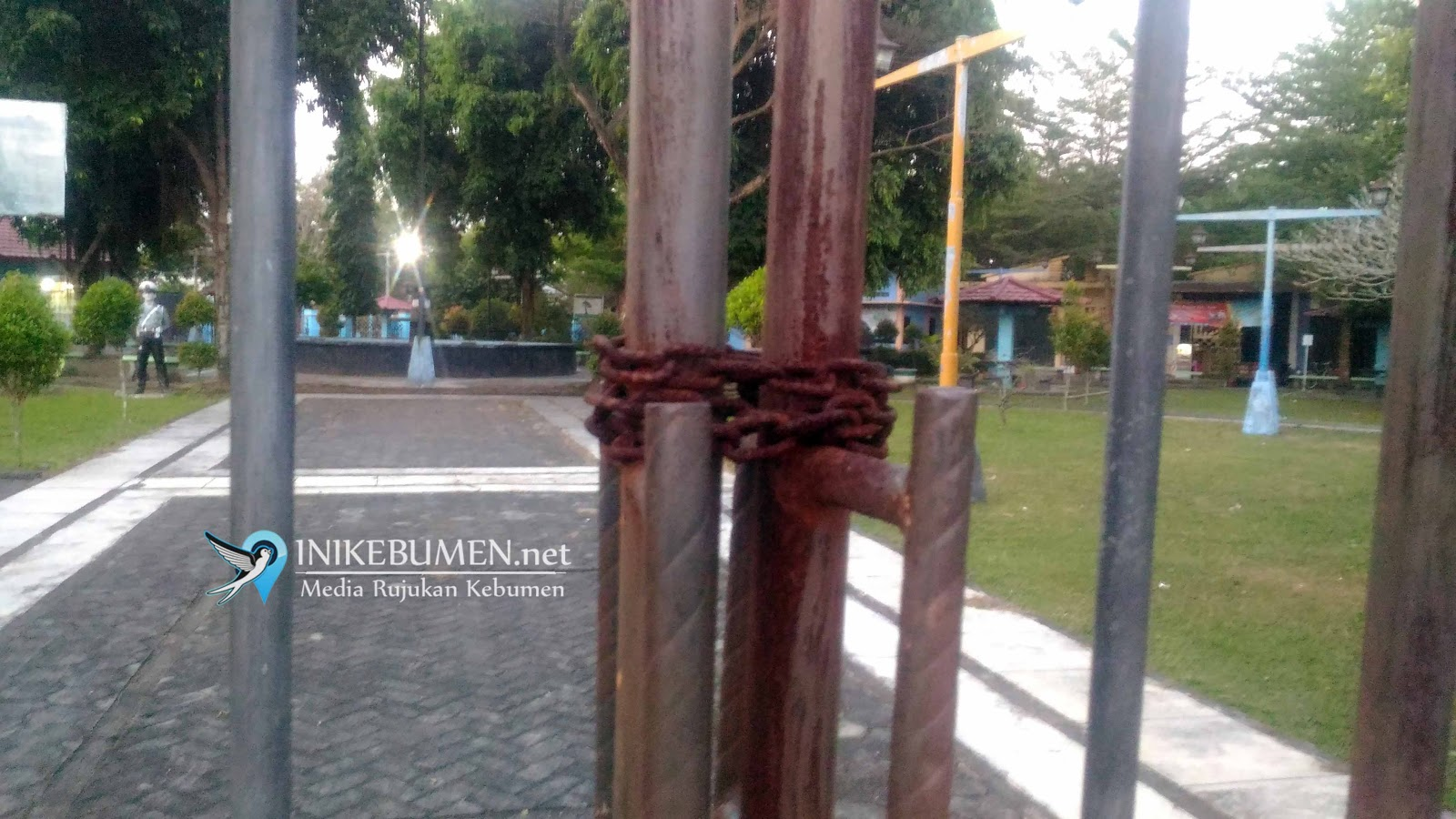 Taman Kota Jendral Sarbini Kebumen Kurang Terawat