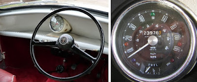 1960s Mini dashboard and instrument cluster