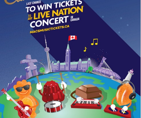 Mac's & Cadbury Win Tickets To Live Nation Concert Contest