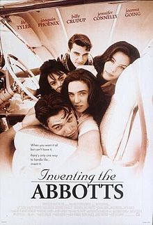 DVD artwork for Inventing the Abbotts 1997 movieloversreviews.filminspector.com