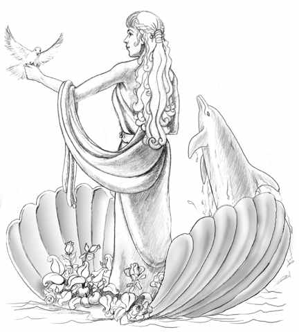 greek mythology coloring pages aphrodite granite | The stammering poet: Aphrodite in her nightie