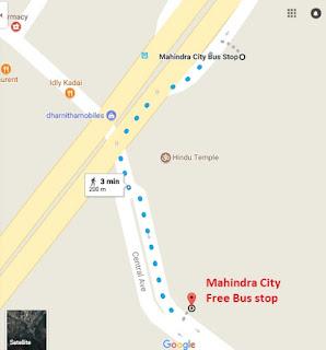 Mahindra City free Bus stop