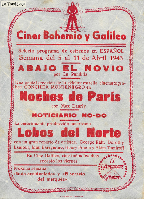 Programa de Cine - Lobos del Norte - Henry Fonda - Dorothy Lamour - George Raft