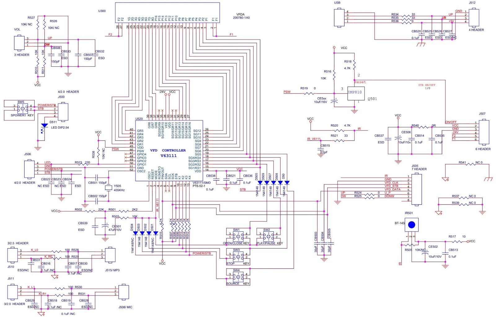 keyboard circuit diagram [ 1600 x 1022 Pixel ]