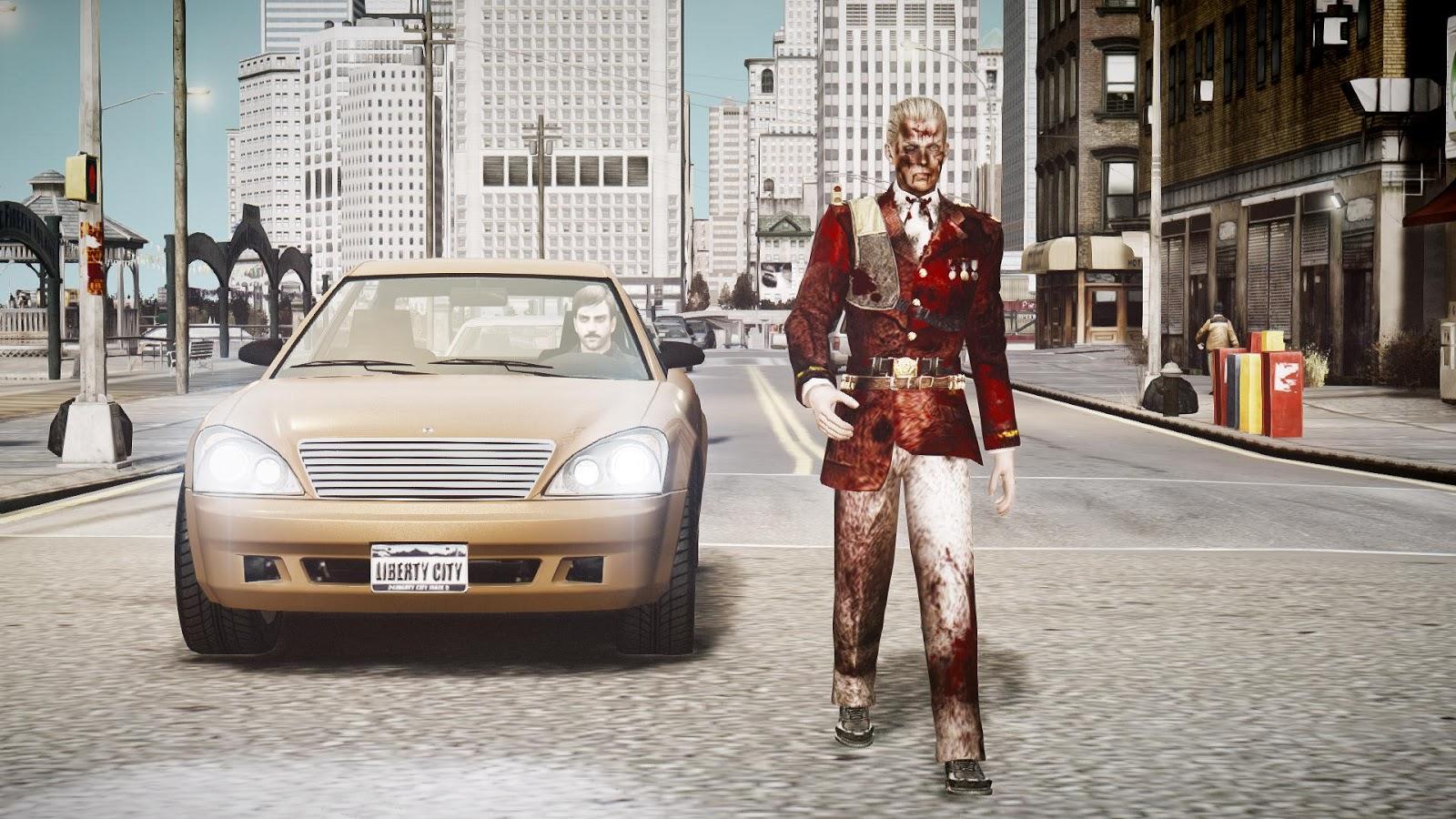 GTA 5,GTAV,GTA IV Mods and Skins: GTA 4 MOD :Resident Evil