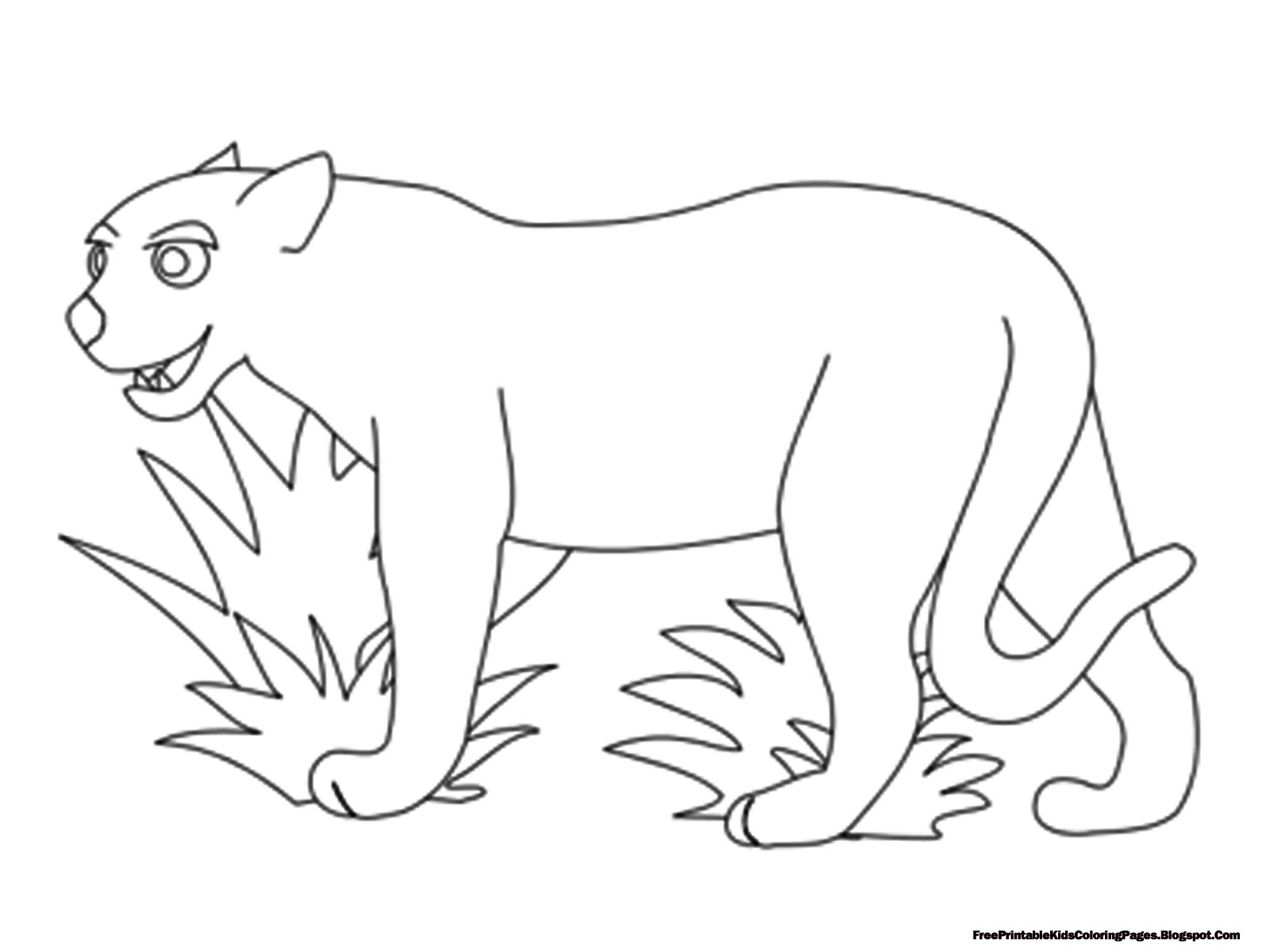 jaguar outline free printable kids coloring pages free printable