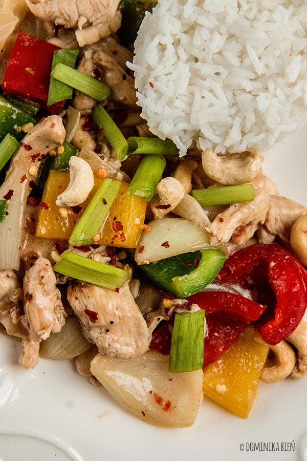 kurczak, stir-fry, papryka