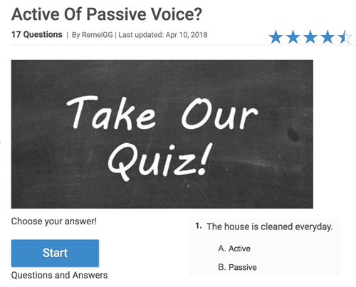 Active or passive voice quiz
