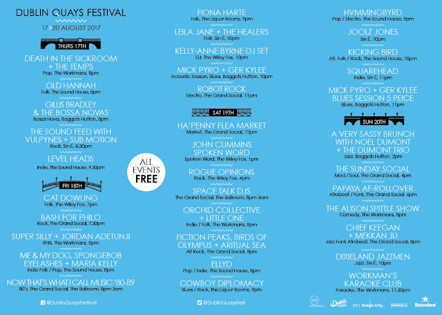 Dublin Quays Festival 2017 Line-Up