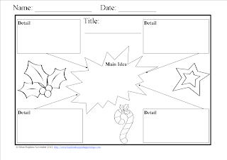 FREEBIE Common Core Winter Graphic Organizers