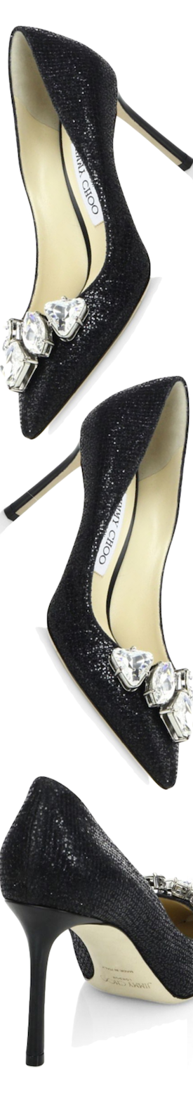 Jimmy Choo Marvel 85 GFI Crystal-Embellished Pumps black