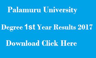 manabadi pu degree 1st year results 2017