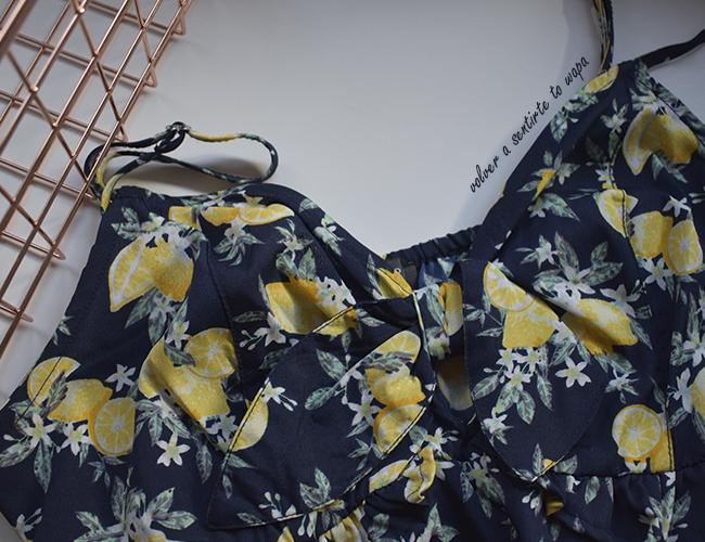 Vestido de verano con estampado de limones de Primark