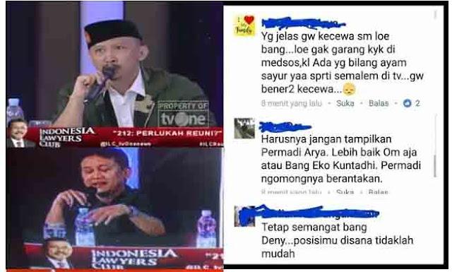 """Ngakak.. Kecewa Penampilan Denny Siregar dan Abu Janda di ILC, Funs Sebut """"Ayam Sayur"""""""