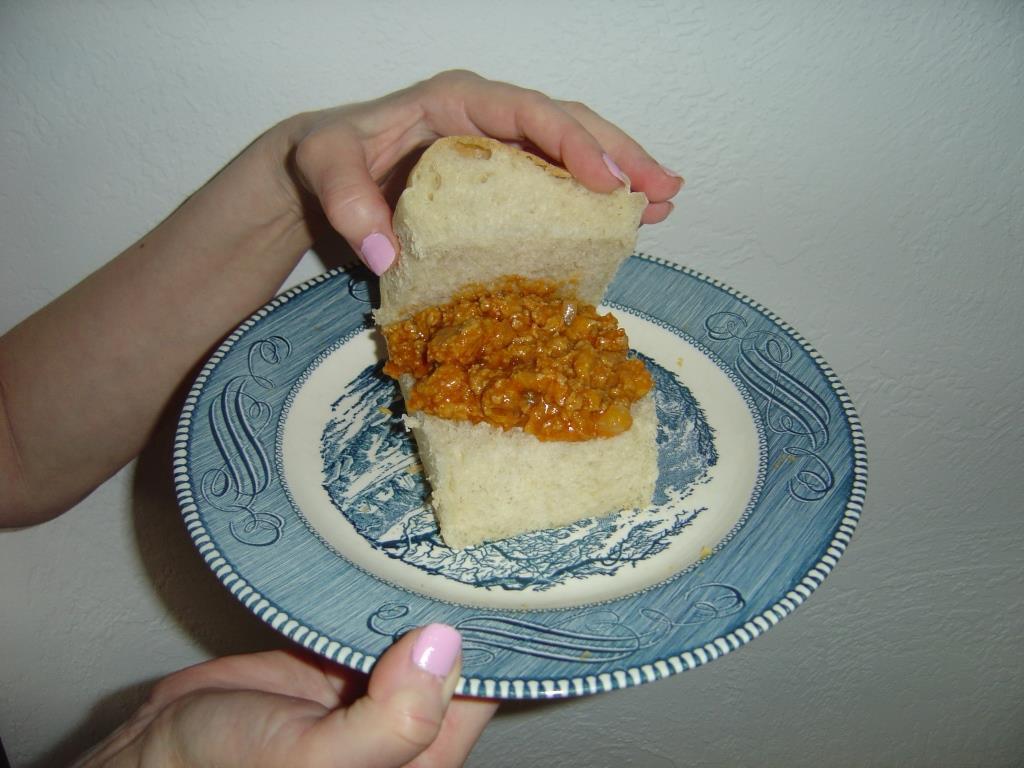 opened Cheesy-Joes sandwich