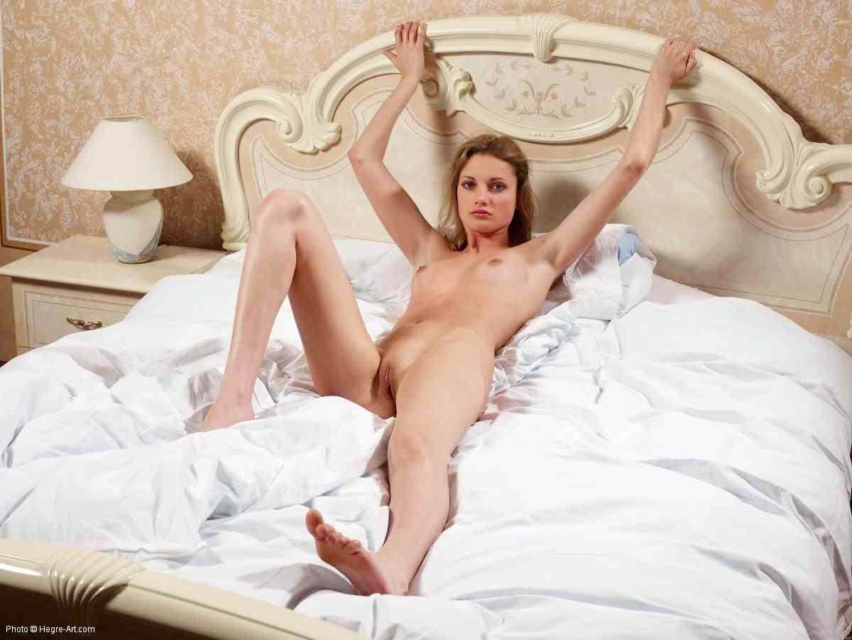 Teen nude bed various