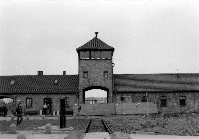 The deafening silence of Auschwitz...A Black and White film photo essay.