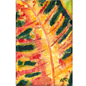 Croton Leaf- Original Painting