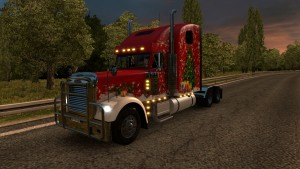 Christmas skin for Freightliner Classic XL