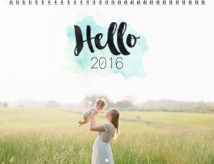 HELLO YEAR PHOTO CALENDAR