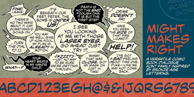 Bộ 77 font việt hóa TeddyBear cho comic của Wonderland team