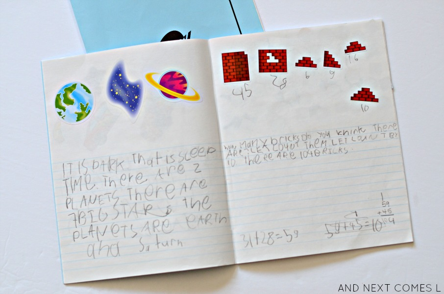 How to use stickers to encourage journal writing in kids from And Next Comes L