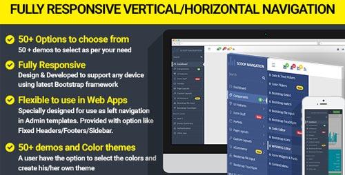 Dropdown Sidebar Menu Responsive Bootstrap Navigation - Info