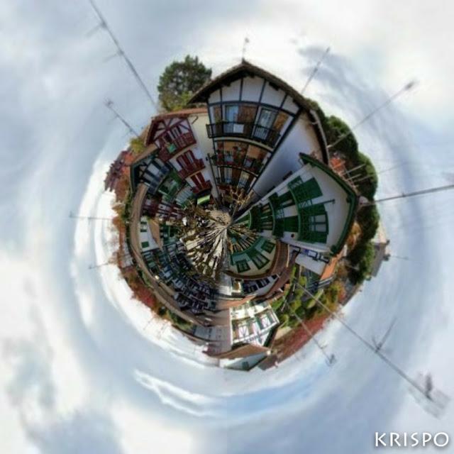 casas de la calle san pedro en imagen circular