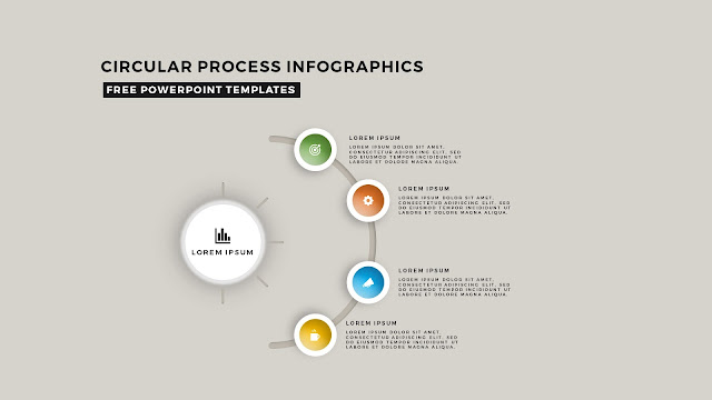 Circular Process Diagram Infographic Free PowerPoint Template Slide 3