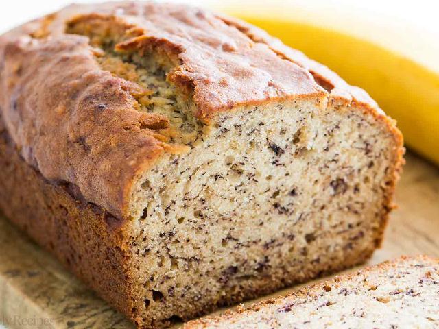 banana bread loaf cake