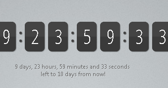 Create jQuery Countdown Timer/Script | jQuery By Example