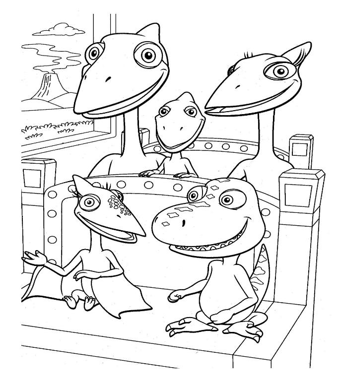 Dinosaurios Para Colorear Dino Tren Para Colorear
