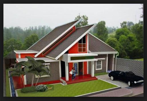 gambar atap miring rumah modern