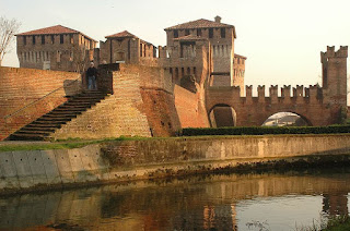 The Sforzesca Castle at Soncino, one of the neighbouring towns of Ferrari's home town of Orzonuovi